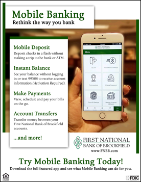 First National Bank of Brookfield - Main Page