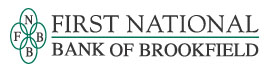 The logo of First National Bank of Brookfield